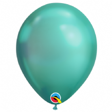Chrome Balloons - Green Chrome Balloons (100pcs) 7 Inch